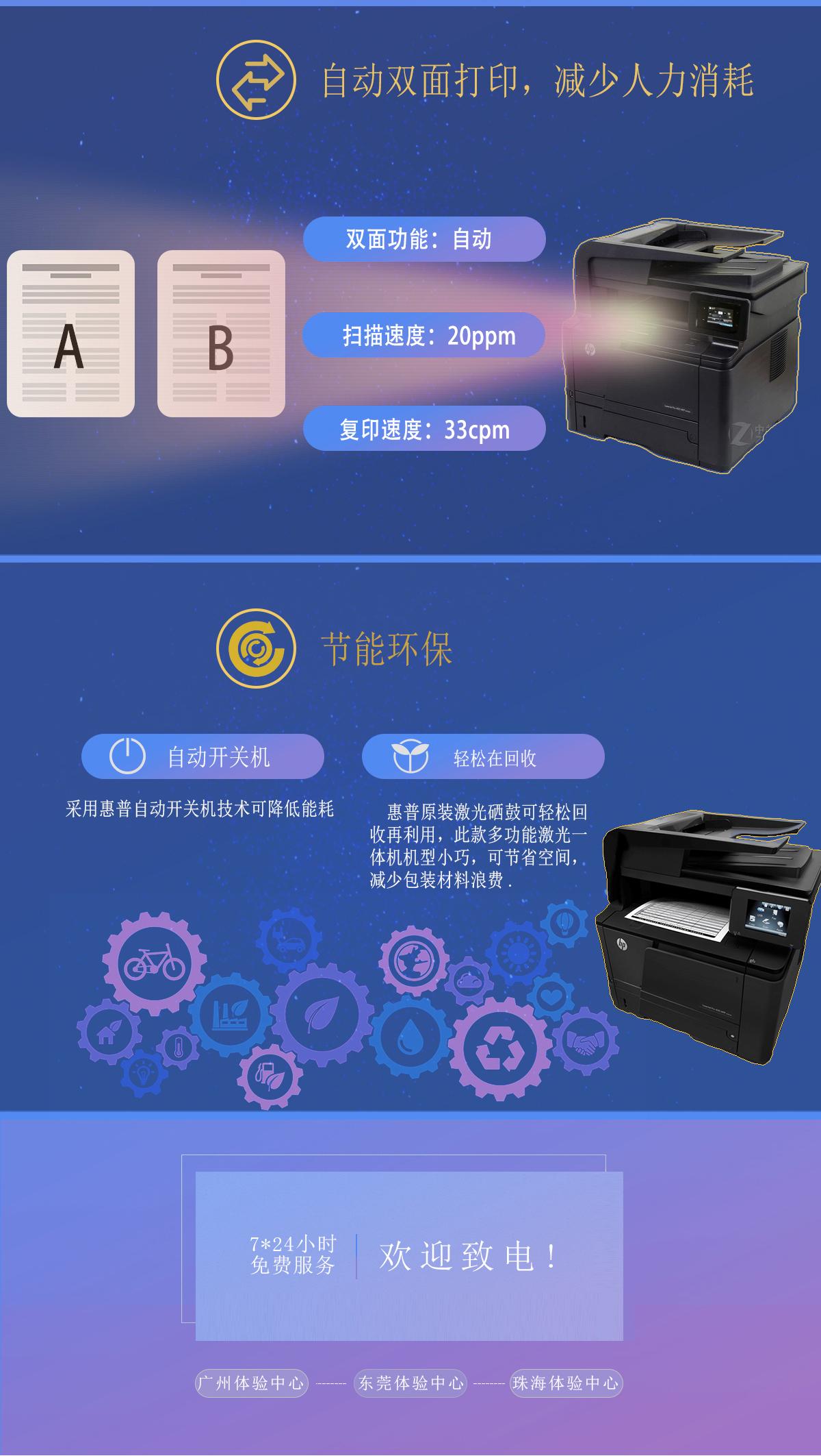 (准新机)M425dn 惠普黑白 A4 一体机(打印/复印/网络扫描)(图3)