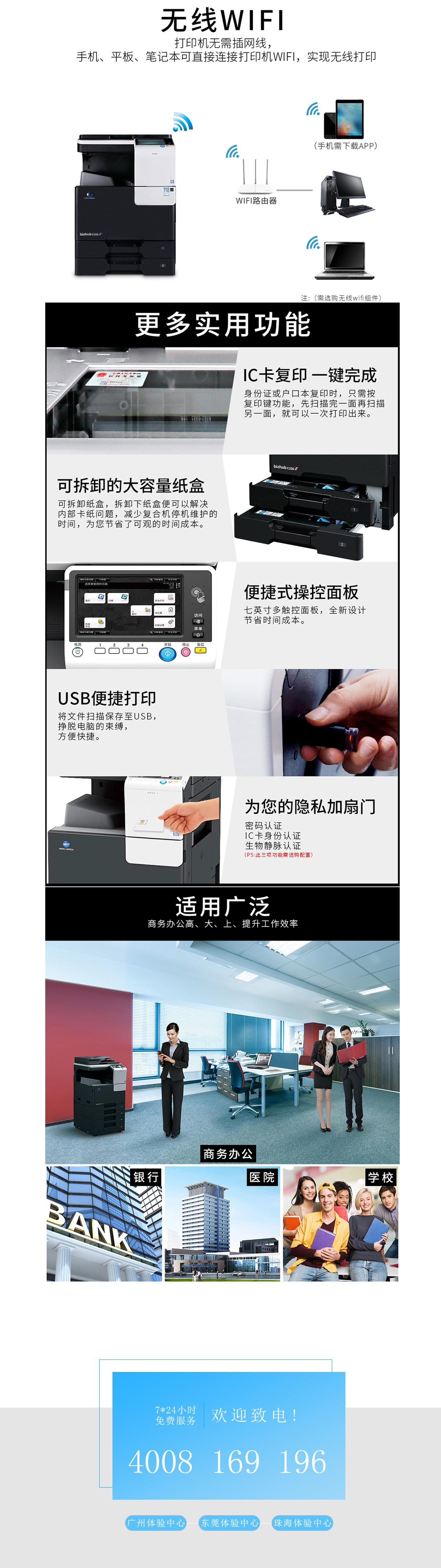 (全新机)7222 柯尼卡美能达复合机A3A4彩色激光网络打印扫描一体机(打印/复印/网络扫描)(图4)