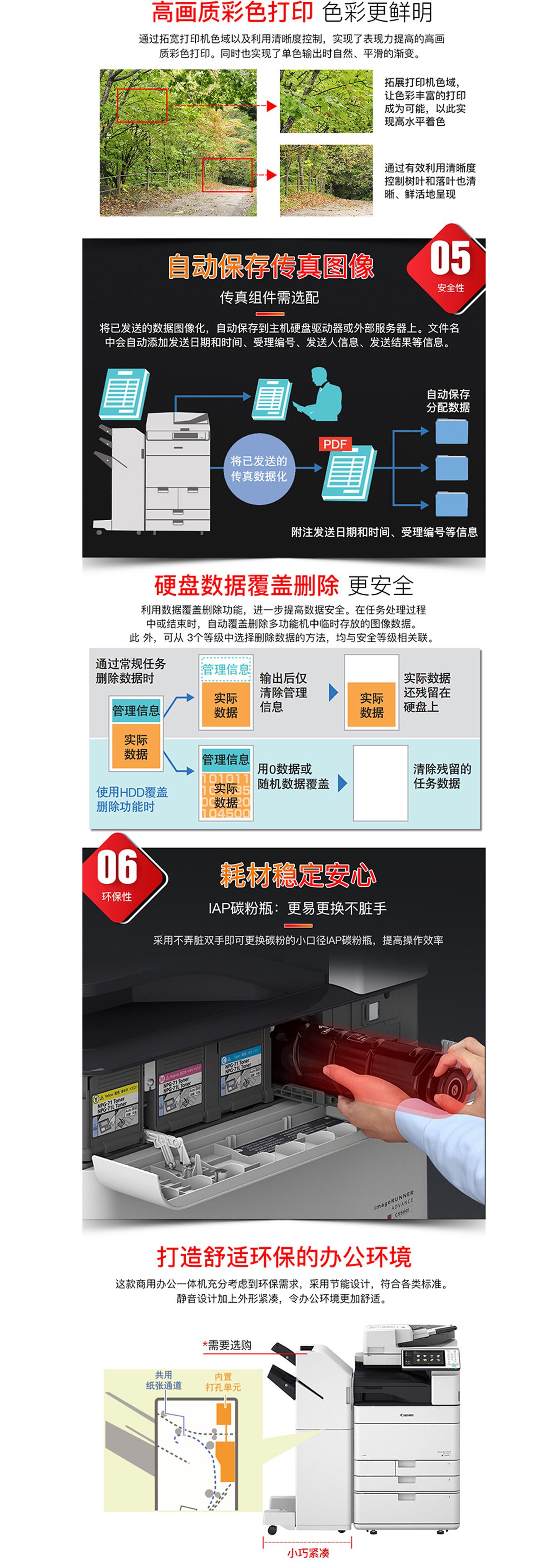 (全新机)IR-ADV C5550 佳能复合机A3A4彩色激光网络打印扫描一体机(打印/复印/网络扫描)(图4)