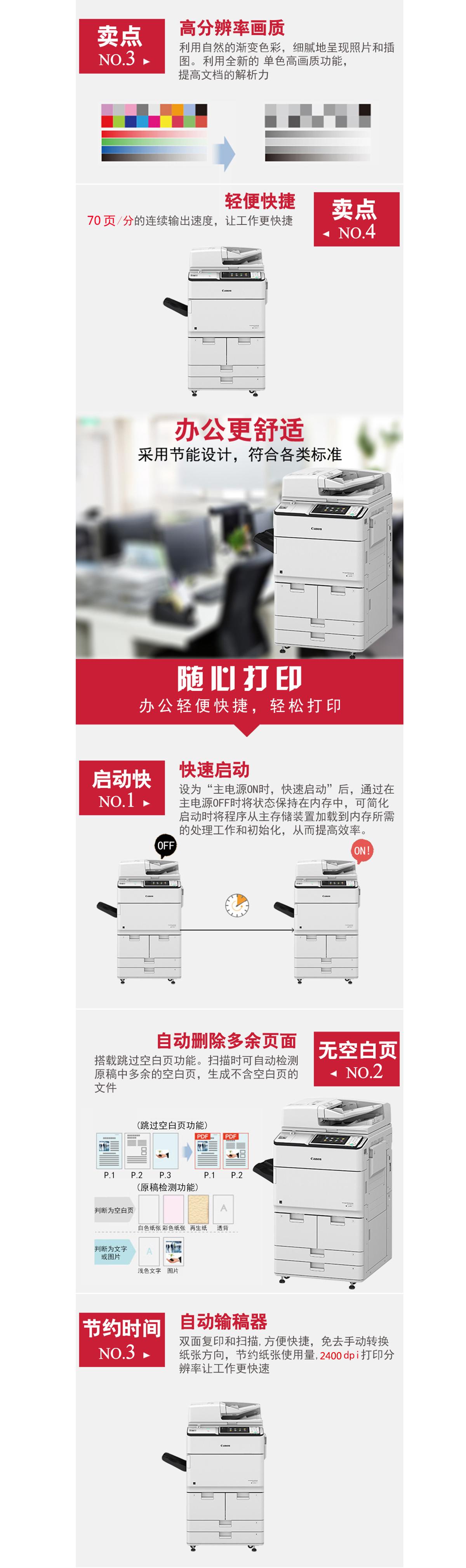 (全新机)IR-ADV C7570 佳能复合机A3A4彩色激光网络打印扫描一体机(打印/复印/网络扫描)(图2)